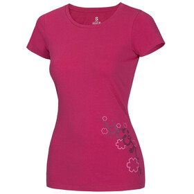 Ocun Blooms Kortærmet T-shirt Damer pink